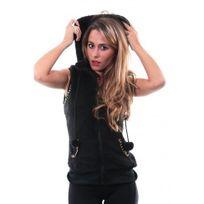 Hollifield - Sweat Capuche - Col Echarpe - Femme - Hfs57 - Noir Rose ... 27299a9543d4
