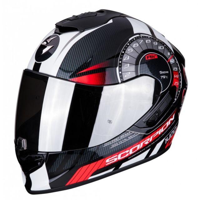 Scorpion Casque Integral Moto Fibre Exo 1400 Air Torque Noir Rouge