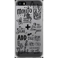BIGBEN - Coque iPhone SE recette Mojito - Transparente