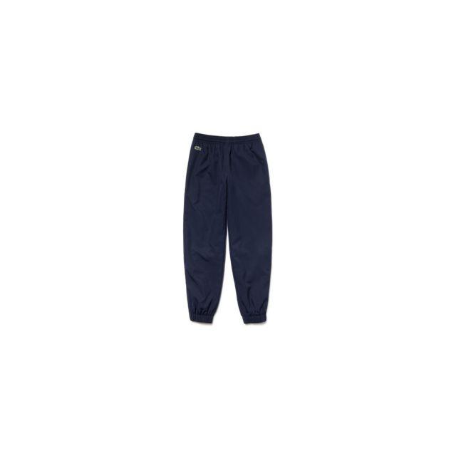 42de84525e552 Lacoste - Pantalon de survêtement Junior - Ref. Xj123T-166 Bleu - pas cher  Achat / Vente Survêtement enfant - RueDuCommerce