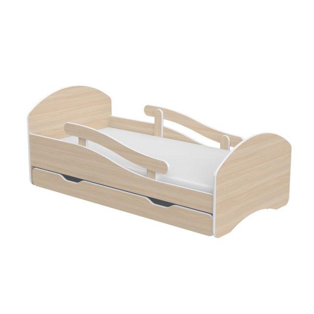 Mpc lit enfant avec barrires matelas tiroir aspect ch for Luminaire chambre enfant avec matelas paris 14