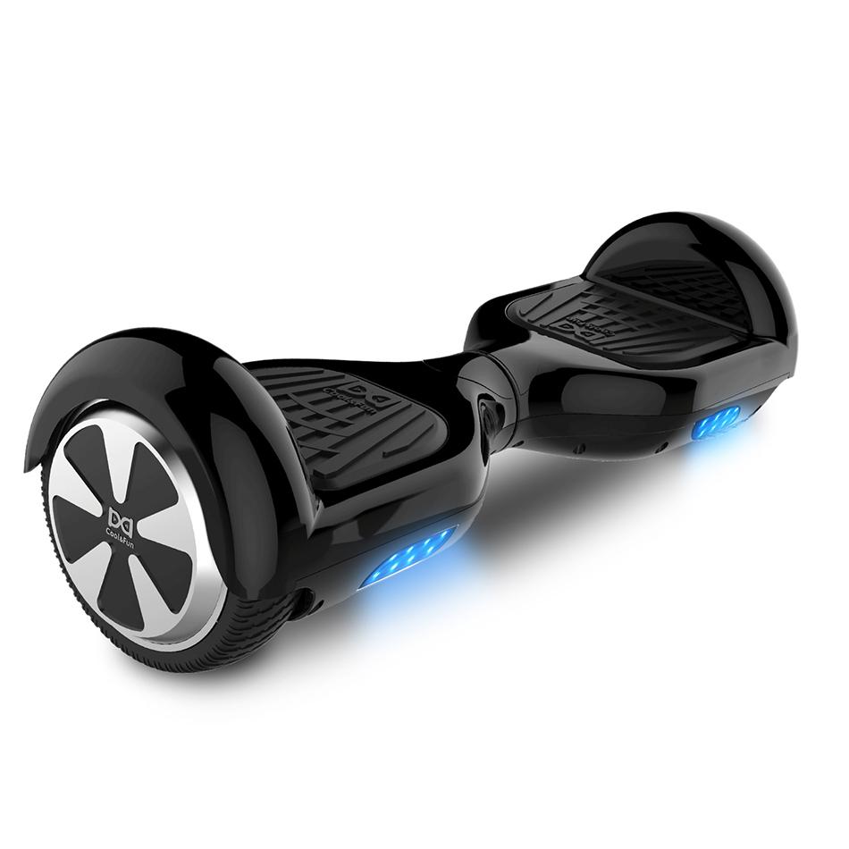 COOL&FUN Hoverboard, gyropode 6,5 pouces Noir