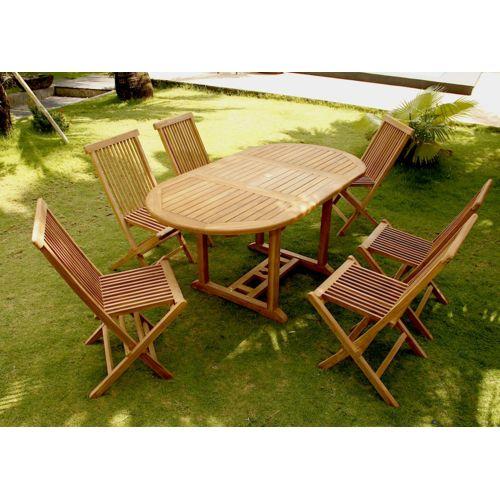 Soldes CONCEPT USINE - Kajang : Salon de jardin 6/8 pers. 6 chaises ...