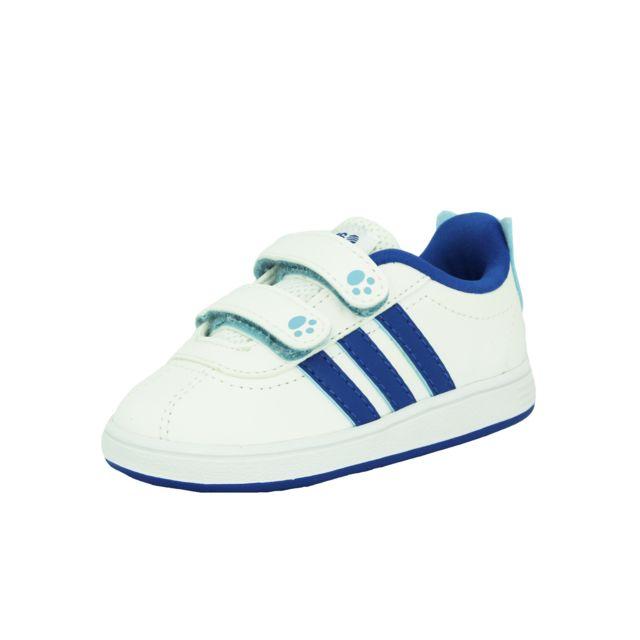 f49064e5c084b Adidas Neo - Adidas Neo Court Animal Inf Chaussures Mode Sneakers Bebe  Blanc Bleu AdiFit