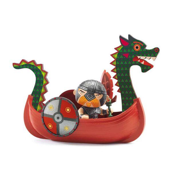 Djeco Figurine Arty Toys : Drack et Ze drakkar