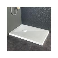 Planetebain - Receveur de douche à poser blanc moderne 80X120