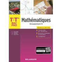 Delagrave - mathématiques groupement C ; 1re, terminale bac professionnel ; pochette élève