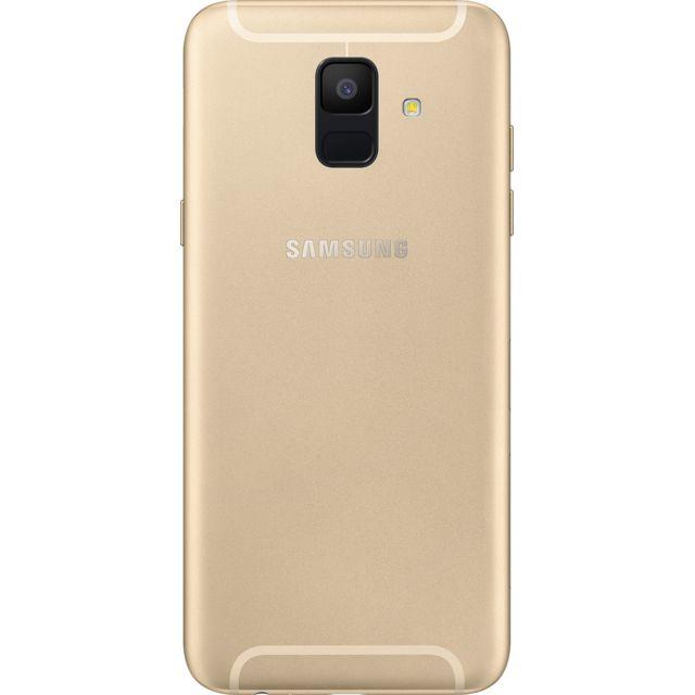 """Samsung Galaxy A6 - Double SIM - Or Débloqué et compatible tous opérateurs - Ecran Panoramique tactile Super AMOLED HD+ 5,6"""" en 720 x 1480 pixels (282,5 ppi) - Android 8.0 Oréo - Surcouche Samsung Expérience 9.0 - P"""