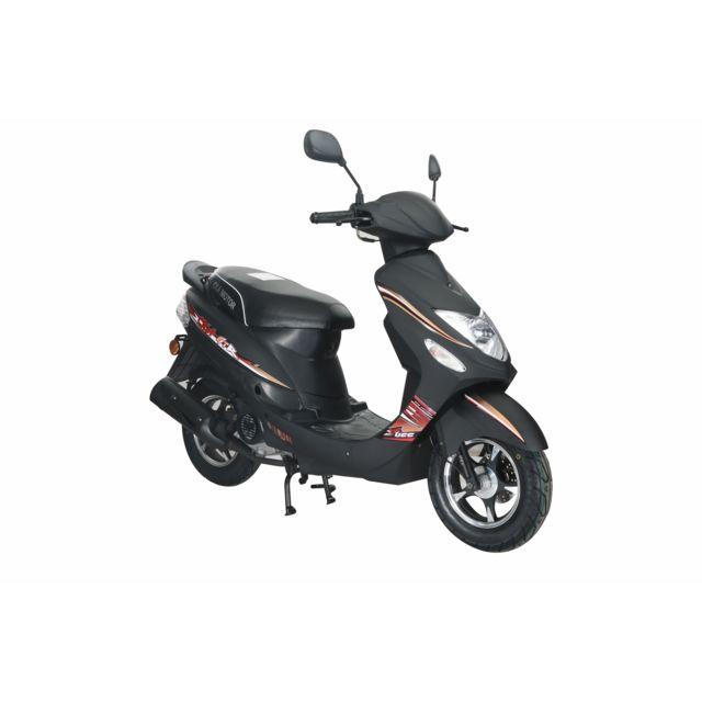 eurocka scooter gtr b 50cc 4t noir mat achat vente scooters 50 pas cher rueducommerce. Black Bedroom Furniture Sets. Home Design Ideas