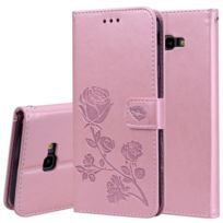 46c761f523 Wewoo - Housse Coque Étui en cuir avec rabat horizontal relief Rose pour  Samsung Galaxy J4