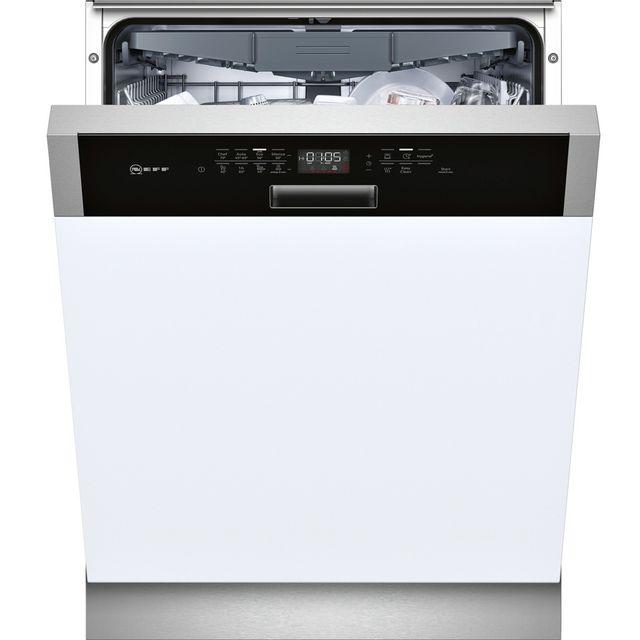 NEFF lave-vaisselle 60cm 14 couverts a++ intégrable avec bandeau apparent noir - s415m80s1e
