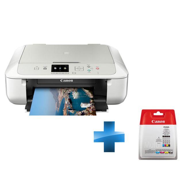 canon pack imprimante pixma mg5751 cartouche d 39 encre cli 571 c m y bk multi bl w o sec pas. Black Bedroom Furniture Sets. Home Design Ideas