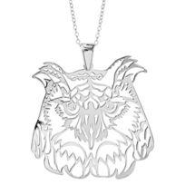 1001BIJOUX - Collier argent rhodié gros pendentif chouette 40+10cm