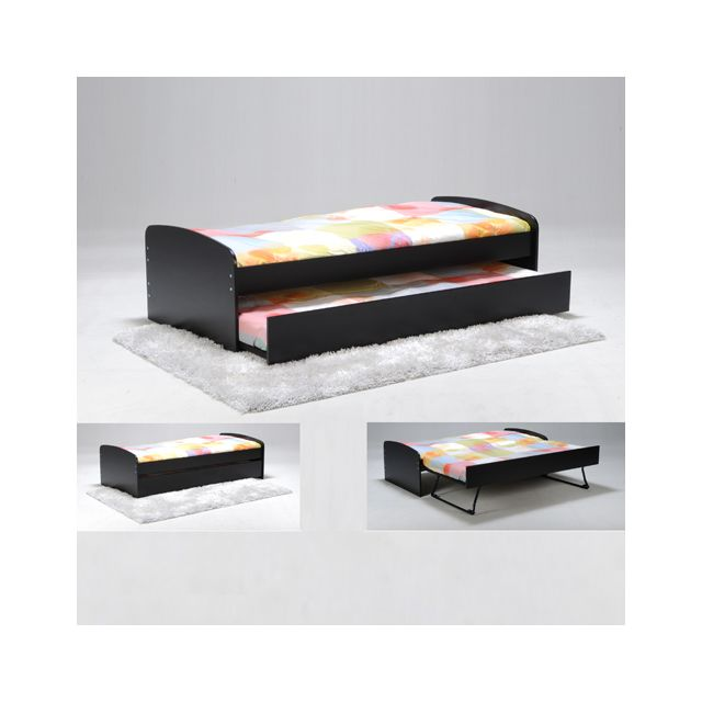 no name lit gigogne romain 90x190 2 sommiers 1. Black Bedroom Furniture Sets. Home Design Ideas