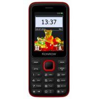 Konrow - Sweet - Compact - Ecran 2.4'' - Double Sim - Radio Fm - Noir / Rouge