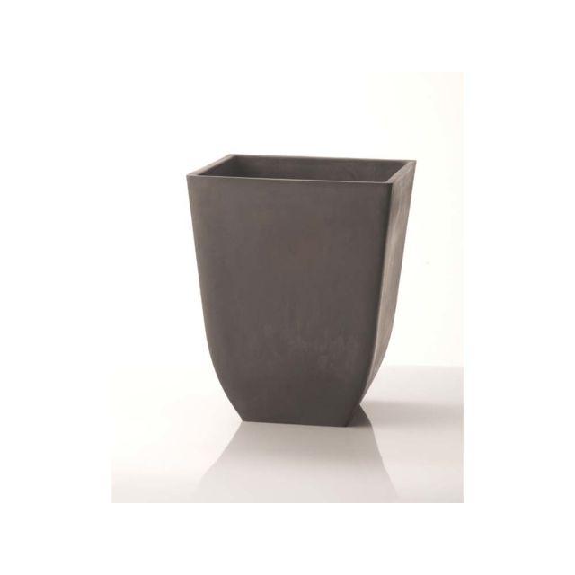 HABITAT ET JARDIN Pot carré Chili 39 x 39 ×46 cm Gris