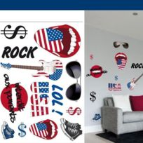Santex - Planche de stickers muraux Etats Unis