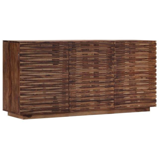 Vidaxl Bois de Sesham Solide Buffet 160x40x75 cm Armoire de Rangement Salon