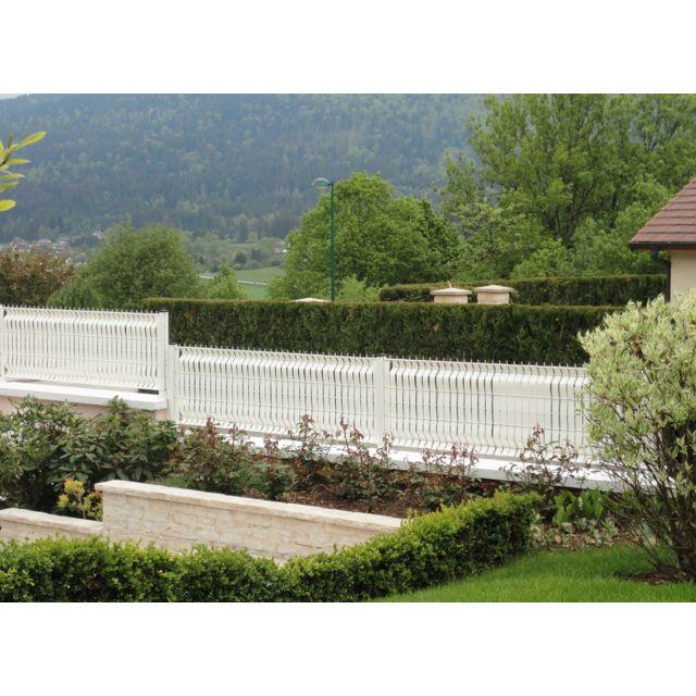 jardideco lani re pvc pour palissade largeur 52 mm x 60 m 100 clips blanc pas cher achat. Black Bedroom Furniture Sets. Home Design Ideas