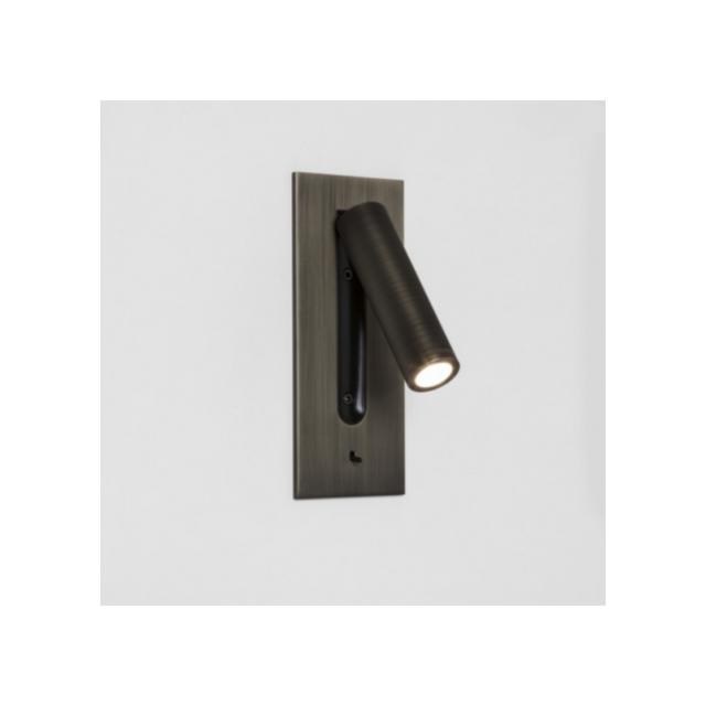 Astro Applique tête de lit Fuse Led H18 cm - interrupteur - Bronze