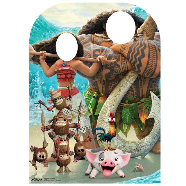 Bebe Gavroche Figurine en carton Passe tête Vaiana Disney