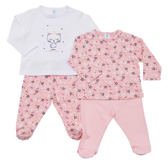 0882219d8df43 TEX BABY - Lot de 2 pyjamas bébé ANIMAL en coton bio - pas cher ...