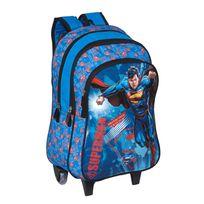 SUPERMAN - Sac à dos avec roulettes bleu - H 43 cm - OD104491