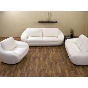 HABITAT ET JARDIN Canapé Cuir Boo Places Places - Canapé cuir 3 places fauteuil
