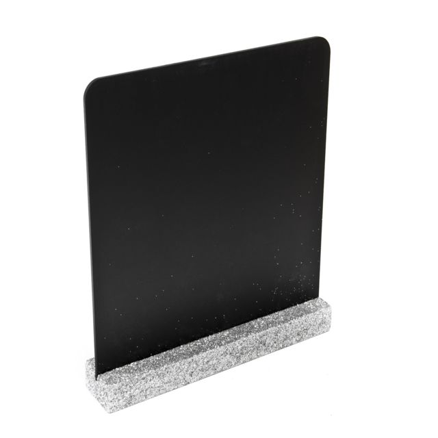 Visiodirect Lot de 10 Menu-Ardoises Double Face coloris Argent - 16 x 17 cm