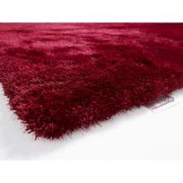Colour Courage - Tapis shaggy Burdeos rouge