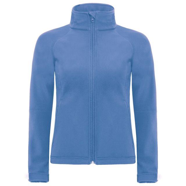 B&C Pro B&C - Veste softshell coupe-vent, imperméable et respirante - Femme XL - 104cm, Bleu Utbc2004