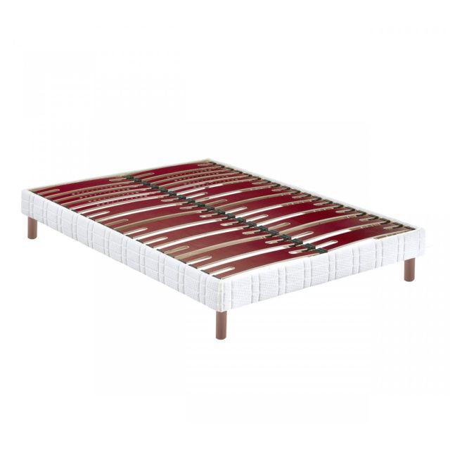 bultex sommier confort morphologique bi lattes 14 cm pieds 90x200 pas cher achat vente. Black Bedroom Furniture Sets. Home Design Ideas