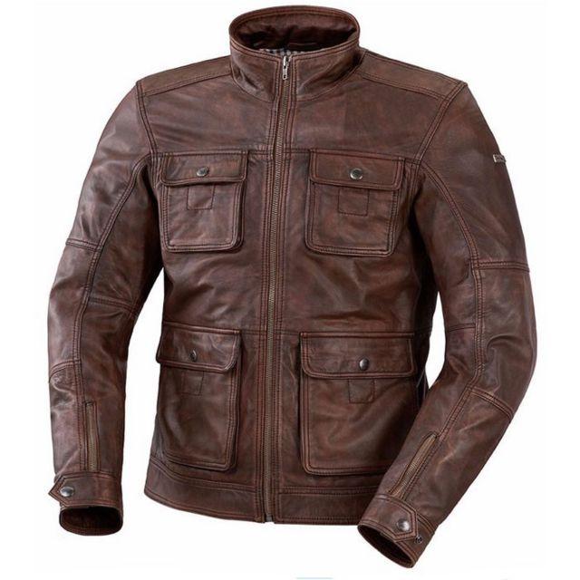 Ixs - veste moto Nick cuir homme vintage été marron Promo - pas cher ... 347e24143e7