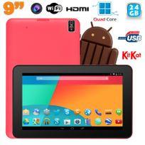 Yonis - Tablette tactile 9 pouces Android 4.4 Bluetooth Quad Core 24 Go Rose