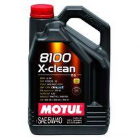 Motul - Huile Moteur 8100 X-clean C3 5W40 - Bidon de 5 L