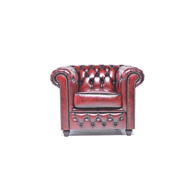 Chesterfield Origine Fauteuil Antique Rouge
