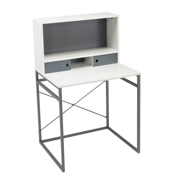 CARREFOUR HOME Bureau avec cases de rangement - H14-0806 Idéal pour installer un ordinateur et travailler en toute simplicité.