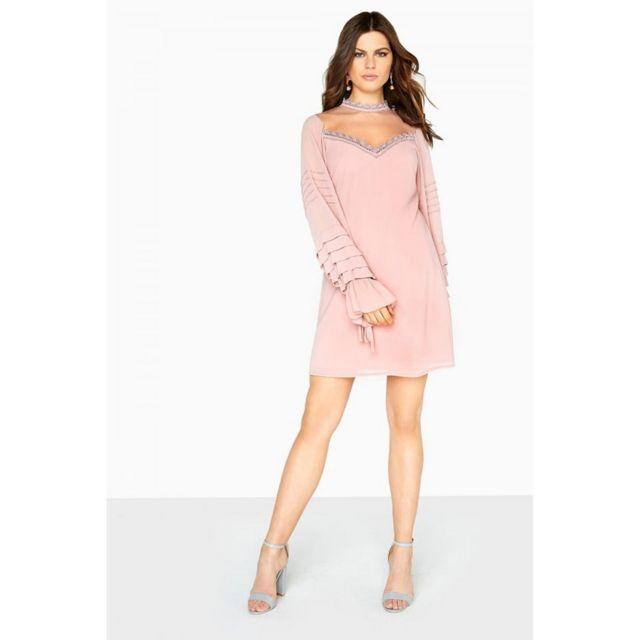 1f6fda6ea8c Generic - Little Mistress - Robe droite avec manches plissées - Femme FR  38
