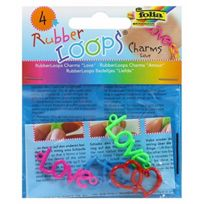 Not Available - Rubber Loops Charms Love, 4-TEILIG, 6STÜCK