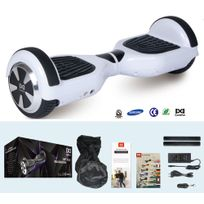 COOL AND FUN - COOL&FUN Hoverboard Batterie Samsung, Scooter électrique Auto-équilibrage,gyropode 6,5 pouces Blanc