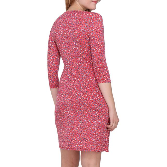 Revdelle Robe Cache Coeur Col V Made In France Manches Longues Pour Femme Myriam Taille S, Couleur Noir