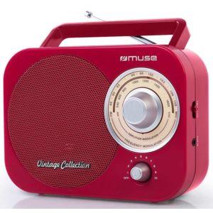 muse radio portable analogique rouge m 055rd pas cher achat vente radio rueducommerce. Black Bedroom Furniture Sets. Home Design Ideas