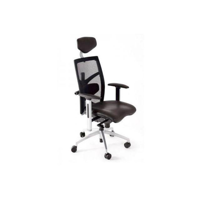 Kokoon Design Chaise de bureau noir Michal