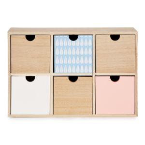 alin a m li boite de rangement 6 tiroirs pour enfant pas cher achat vente d coration. Black Bedroom Furniture Sets. Home Design Ideas