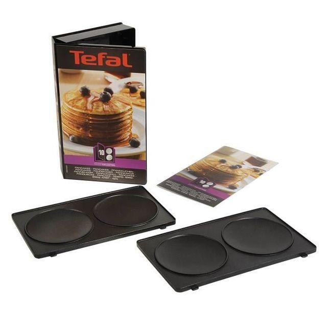 TEFAL Coffret 2 plaques pancakes + Livre de recettes XA801012