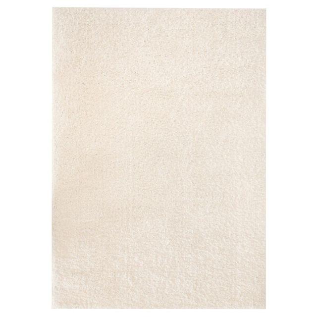 vidaxl tapis poils longs 120 x 170 cm couleur cr me pas cher achat vente tapis. Black Bedroom Furniture Sets. Home Design Ideas