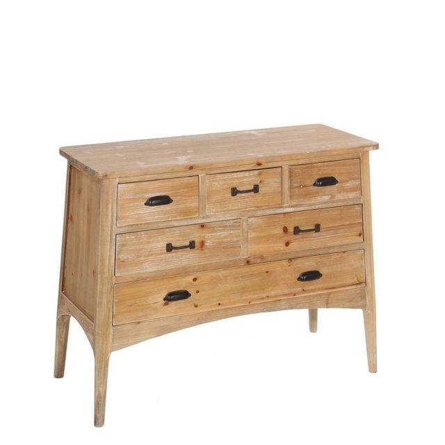 ma maison mes tendances commode elorn en bois clair 6 tiroirs l 103 x l 43 x h 80 pas cher. Black Bedroom Furniture Sets. Home Design Ideas