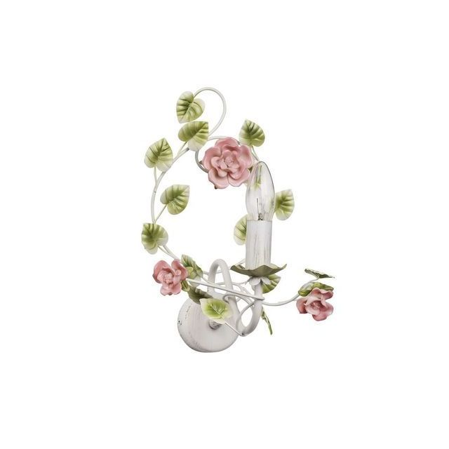 Mw Light Applique Flora Blanc 1x40W - 421023901
