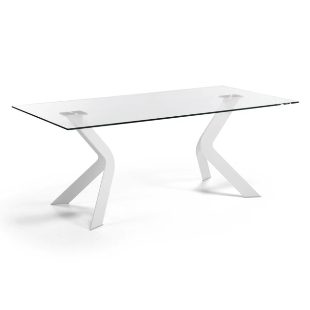 Kavehome Table Westport 200x100 cm, blanc