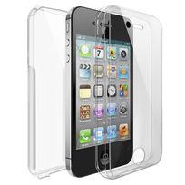 Cabling - Coque silicone gel intégral pour iPhone 4 / 4S - Transparent